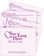 Stay Young at Heart Recipe Cards