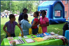 Image of young people at a community event