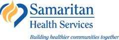 Image of Samaritan Health Services logo with tagline Building healthier communities together