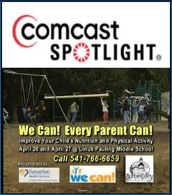 Image of TV PSA aired on Comcast Spotlight with kids being active