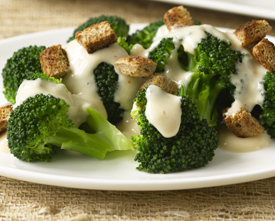 Broccoli and cheese on a plate