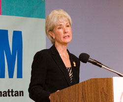 Photo of Kathleen Sebelius, Secretary, U.S. Department of Health and Human Services