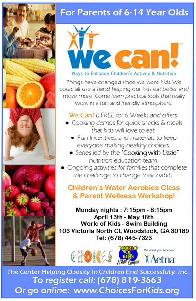 Flier for CHOICES program featuring We Can!