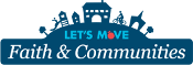 Let's Move Faith and Communities logo