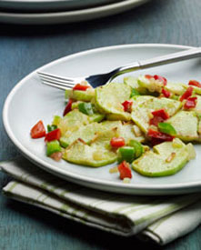 Chayote salad on a plate