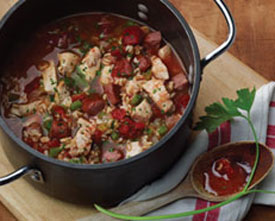 Jumpin' jambalaya in a pot