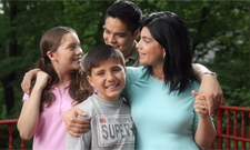 Image of family from spring Spanish language public service announcement