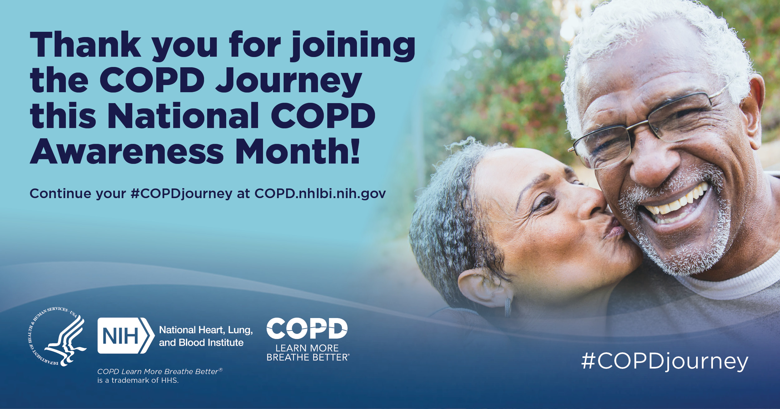 Image with text thanking people for joining National COPD Awareness Month.