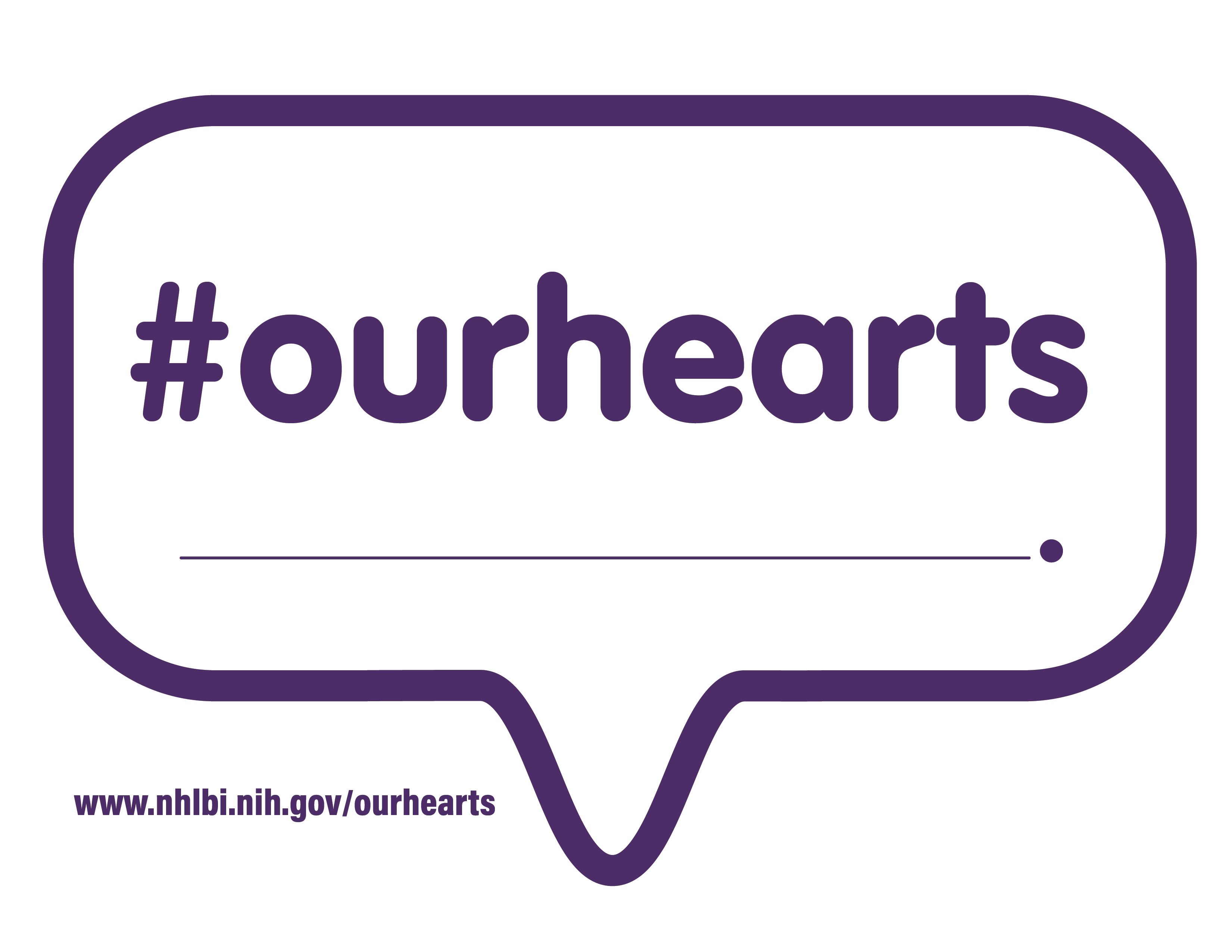 Blank Template with the #OurHearts logo