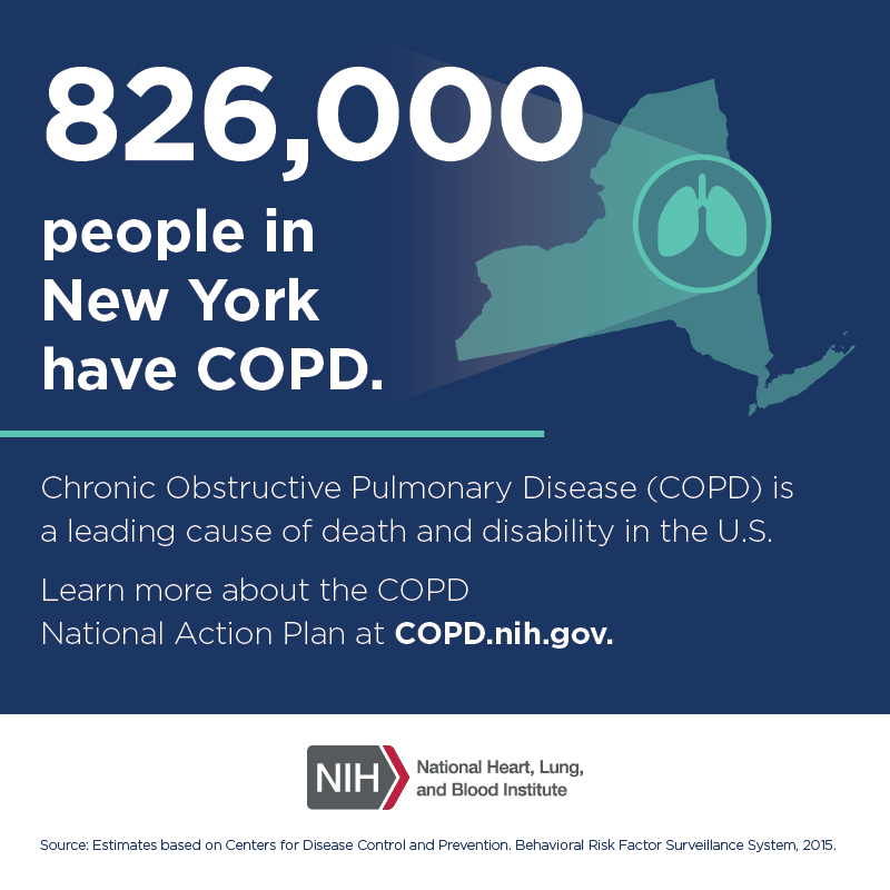 826,000 people in New York have COPD.