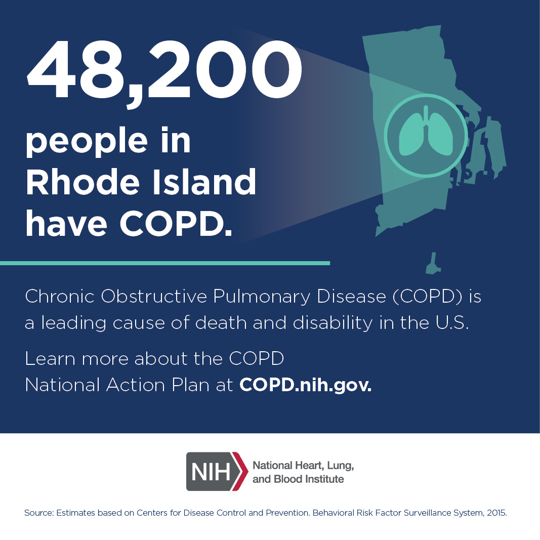 48,200 people in Rhode Island have COPD.