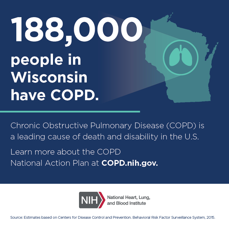 188,000 people in Wisconsin have COPD.