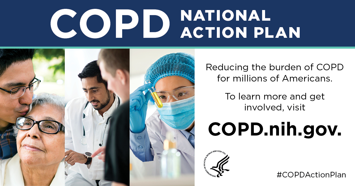 Reducing the burden of COPD for millions of Americans. Visit COPD.nih.gov