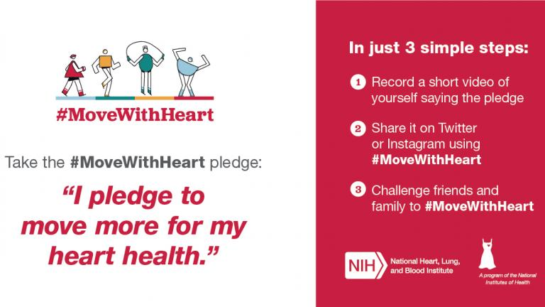Pledge Card for #MoveWithHeart Initiative