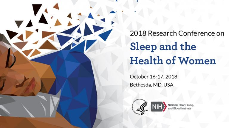 Promotional banner of the 2018 Research Conference on Sleep and the Health of Women