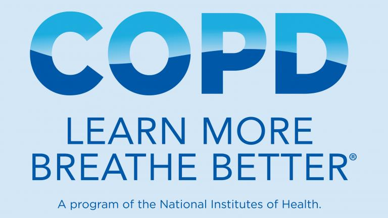 COPD Learn More Breathe Better. A program of the National Institutes of Health