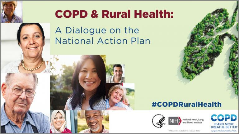 Promotional Banner for the COPD and Rural Health Meeting. Decorative.