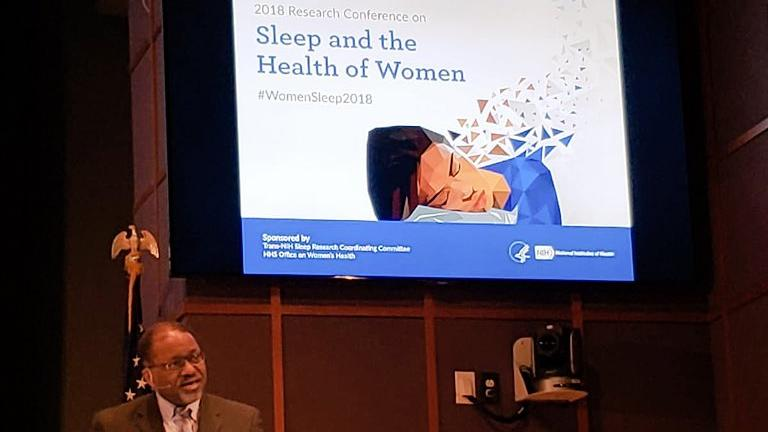 Dr. Gibbons speaking at sleep conference