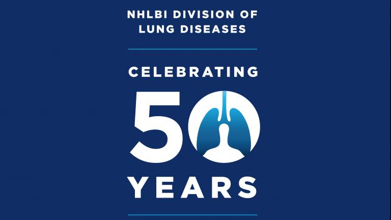 Logo of Division of Lung Diseases 50th Anniversary