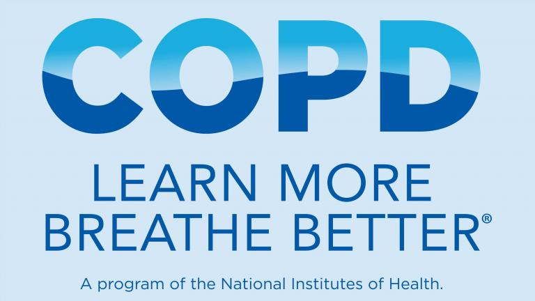 Logo for COPD Learn More Breathe Better Initiative. Reads: A program of the National Institutes of Health.