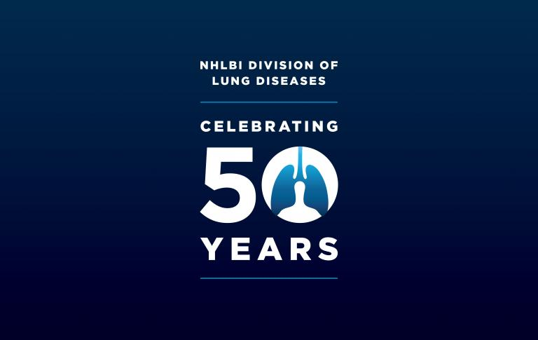Logo of the 50 year anniversary of the NHLBI Division of Lung Diseases