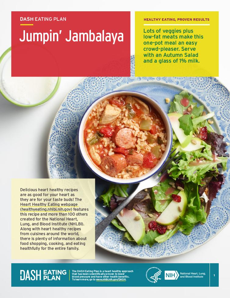 Try this heart-healthy recipe for jambalaya.
