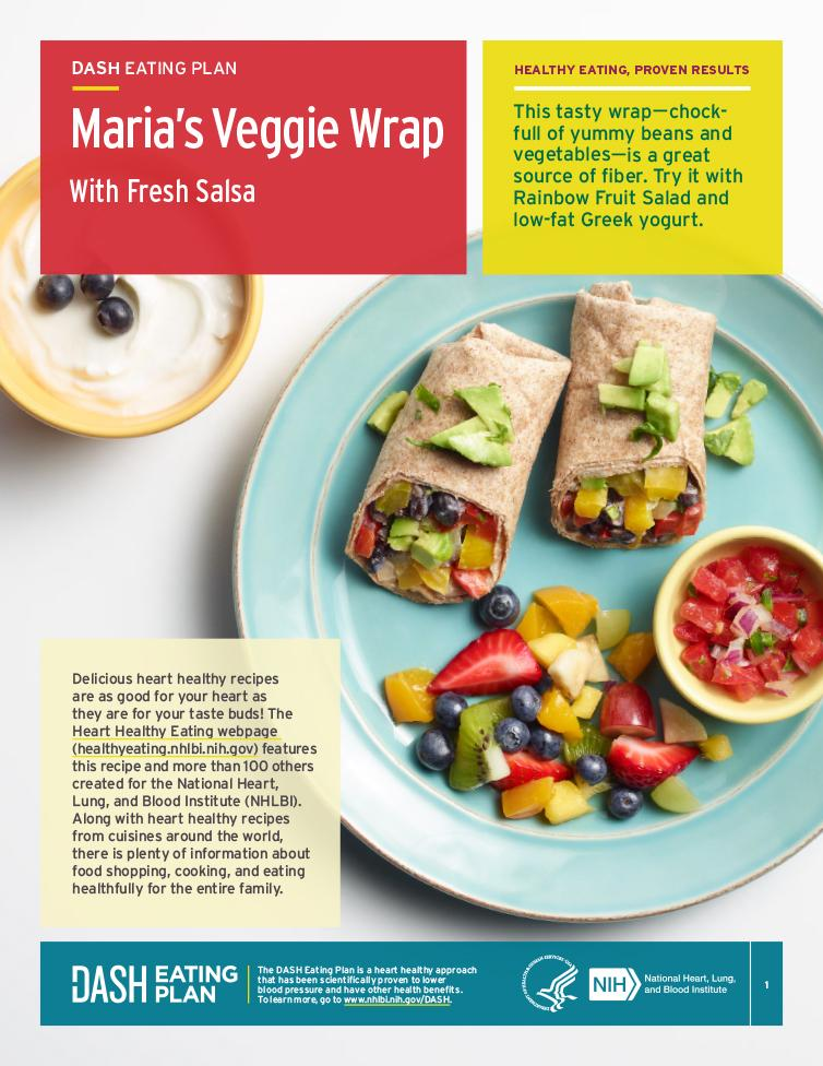 Try this heart-healthy recipe for Maria's Veggie Wrap.