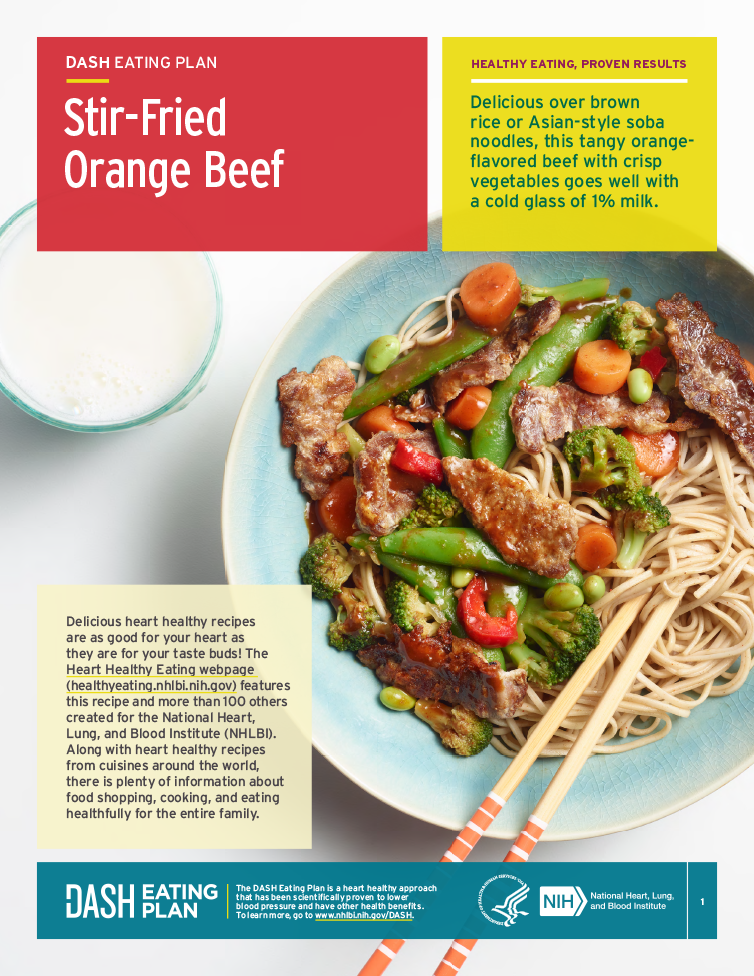 Try this heart healthy recipe for stir-fried orange beef that's better than takeout!