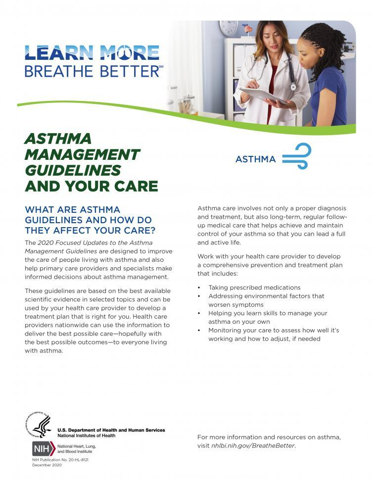 Asthma Management Guidelines and Your Care   NHLBI, NIH