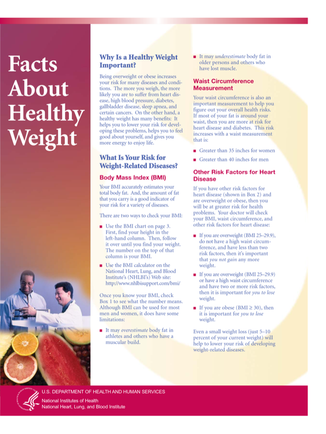 Aim for a Healthy Weight - Facts About Healthy Weight