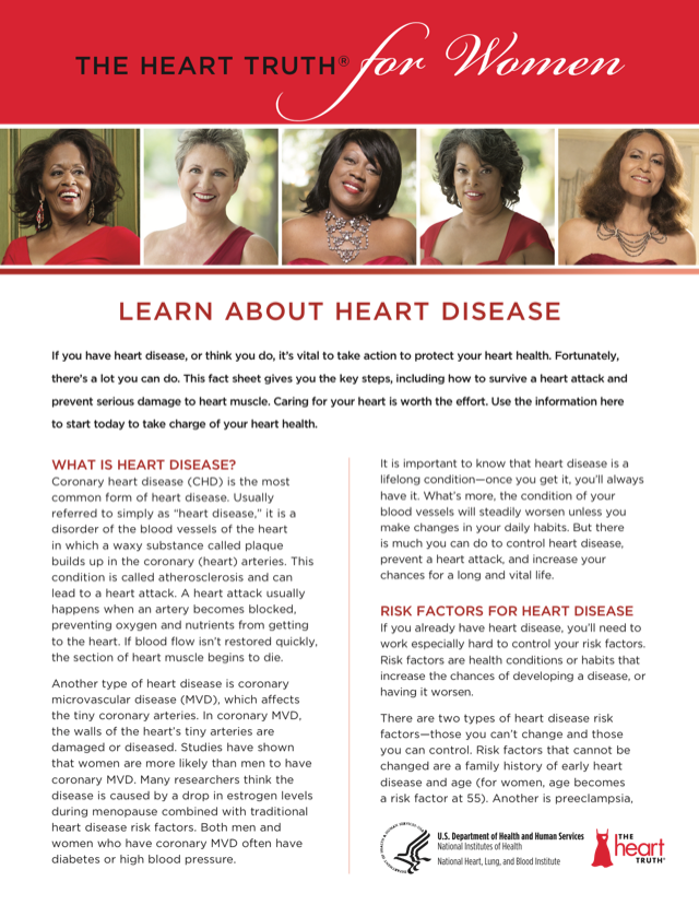 The Heart Truth for Women: Learn About Heart Disease | NHLBI, NIH